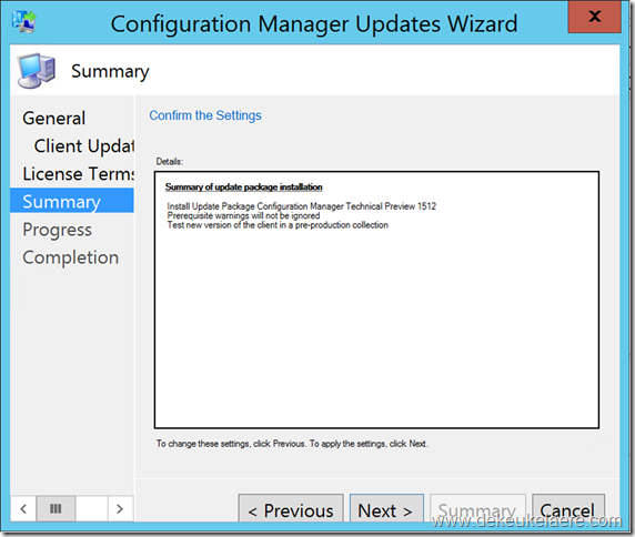 Configuration Manager 1511 Updates and Servicing : a closer